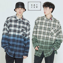 ★ROMANTIC CROWN★韓国 チェックシャツ GRADATION CHECK SHIRT