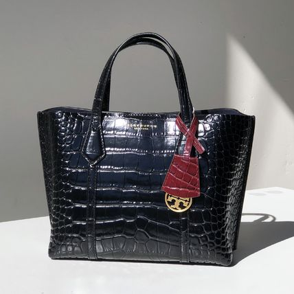 Tory Burch ショルダーバッグ・ポシェット 即発★TORY BURCH★PERRY CROC EMBOSSED SMALL TOTE 74594(2)