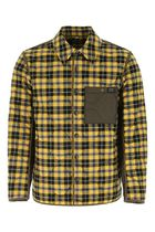 BURBERRY ♠ Multicolor flannel and nylon padded jacket