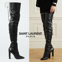 ∞∞ Saint Laurent ∞∞ Moon lace-up leather サイハイブーツ