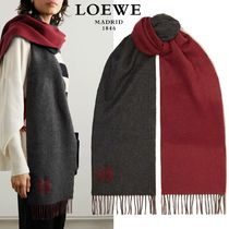 ∞∞ LOEWE ∞∞ Fringed cashmere-blend スカーフマフラー☆