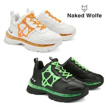 Naked Wolfe(ネイキッドウルフ) スニーカー 【Naked Wolfe】STRENGTH LEATHER スニーカー ロゴ 白/黒
