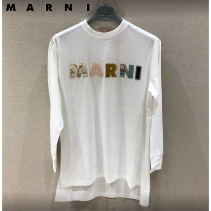 マルニ直営店◆MARNI LOGO ORGANIC JERSEY LONG-SLEEVED T-SHIRT