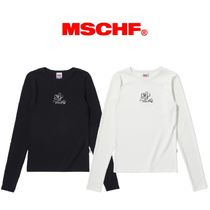 【MISCHIEF】FITTED ROSE LONG SLEEVE Black/White