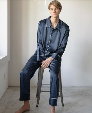 DECO VIEW ルームウェア・パジャマ 【DECO VIEW】Solid Silky Pajama Set (men)(3)