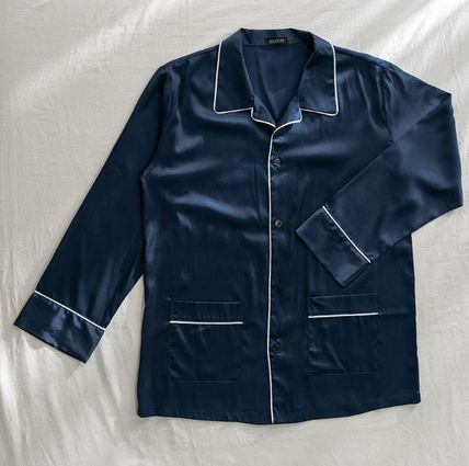DECO VIEW ルームウェア・パジャマ 【DECO VIEW】Solid Silky Pajama Set (men)(5)