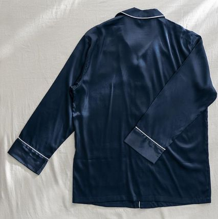 DECO VIEW ルームウェア・パジャマ 【DECO VIEW】Solid Silky Pajama Set (men)(6)