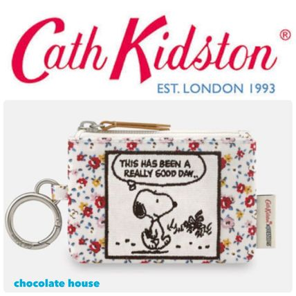 Cath Kidston×Snoopy☆スヌーピー キーリング付き コインケース