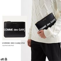 COMME DES GARCONS | ロゴレザーポーチ/クラッチバッグ