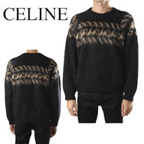 CELINE CREW NECK FAIR ISLE SWEATER