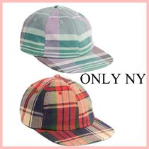ONLY NY Plaid Polo Hat チェック柄キャップ 2色 送料込み