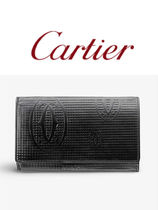 ★Cartier★Happy Birthday honeycomb patent-leather wallet