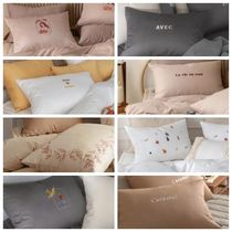 maatila(マティラ) ベッドカバー・布団カバー 【maatila】Emotionspace embroidery Quilt Cover+Pillowcase-SS
