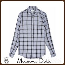 MassimoDutti♪REGULAR FIT CHECKED COTTON SHIRT