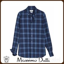 MassimoDutti♪SLIM FIT MELANGE CHECK SHIRT