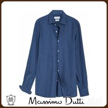 MassimoDutti♪SLIM FIT GINGHAM SHIRT