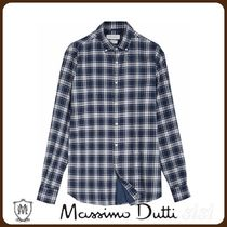 MassimoDutti♪SLIM FIT CHECK 100% COTTON SHIRT