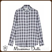 MassimoDutti♪SLIM FIT CHECK COTTON SHIRT