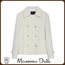 MassimoDutti♪CROPPED WOOL JACKET WITH BUTTON-DOWN FRONT