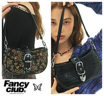 【NASTY FANCY CLUB】 BUCKLE SHOULDER BAG (flower/black)