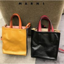 マルニ直営店◆Museo shopping bag with soulder strap◆ロゴ◆