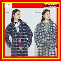 [ROMANTIC CROWN] CLASSIC CHECK WOOL COAT ◆全2色◆追跡付◆