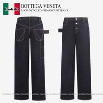 BOTTEGA VENETA LOOP-DETAILED STRAIGHT-FIT JEANS