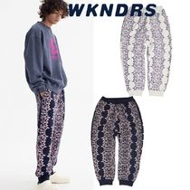 日本未入荷★WKNDRS★SMILE SWEAT PANTS 2色