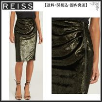 【海外限定】REISS スカート☆LEENA VELVET PENCIL SKIRT