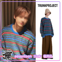 【TrunkProject】Alpaca Stripe Knit Sweater Seventeen JUN着用