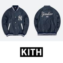 【KITH X MBL】NEW YORK YANKEES LEATHER BOMBER