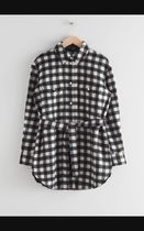 Oversized Belted Shirt Jacket / Black Checks