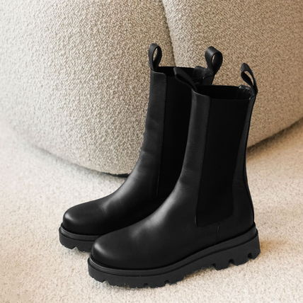 """""""Flattered"""" Lia Leather Boots Black"""