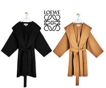 LOEWE  Hooded coat in wool and cashemere