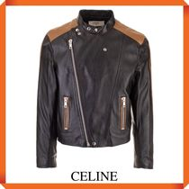CELINE CAFE RACER JACKET IN SOFT LAMBSKIN