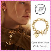 【VINTAGE HOLLYWOOD】Open Your Heart Chain Bracelet