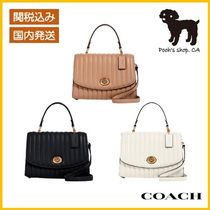【COACH】Tilly Top Handle With Linear Quilting◆国内発送◆