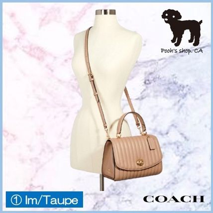 Coach ショルダーバッグ・ポシェット 【COACH】Tilly Top Handle With Linear Quilting◆国内発送◆(5)