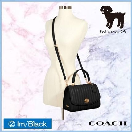 Coach ショルダーバッグ・ポシェット 【COACH】Tilly Top Handle With Linear Quilting◆国内発送◆(9)