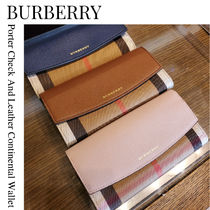 BURBERRY★Porter Continental Wallet チェック レザー 長財布