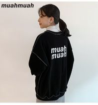 【muahmuah】Signature Logo Line Sweats 起毛 スウェット 4色