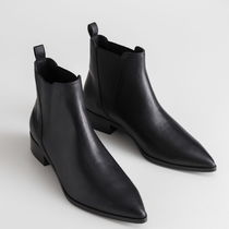 """""""& Other Stories"""" Leather Chelsea Boots Black"""