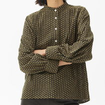 """""""ARKET"""" Embroidered Blouse Brown"""