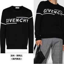 GIVENCHY Logo embroidered SWEATER SPLITジャージー セーター