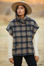 Anthropologie ★ Andersen & Lauth ★ Cinnamon Plaid Capelet