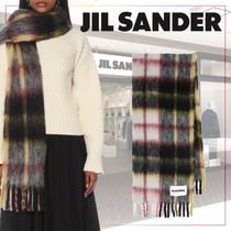 【JIL SANDER】Checked mohair and wool-blend scarf487940