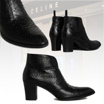 ★Celine 20冬★PAGES ZIPPED BOOTS SHINY PYTHON メンズ ブーツ