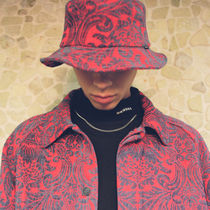[ WKNDRS ] FLORAL JACQUARD HAT (RED)