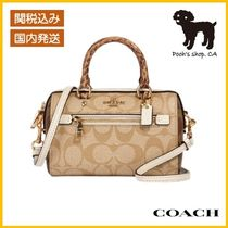 【COACH】MicroRowan Crossbody In SignatureCanvas◆国内発送◆