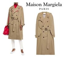 Maison Margiela☆Cutout belted cotton-gabardine trench coat